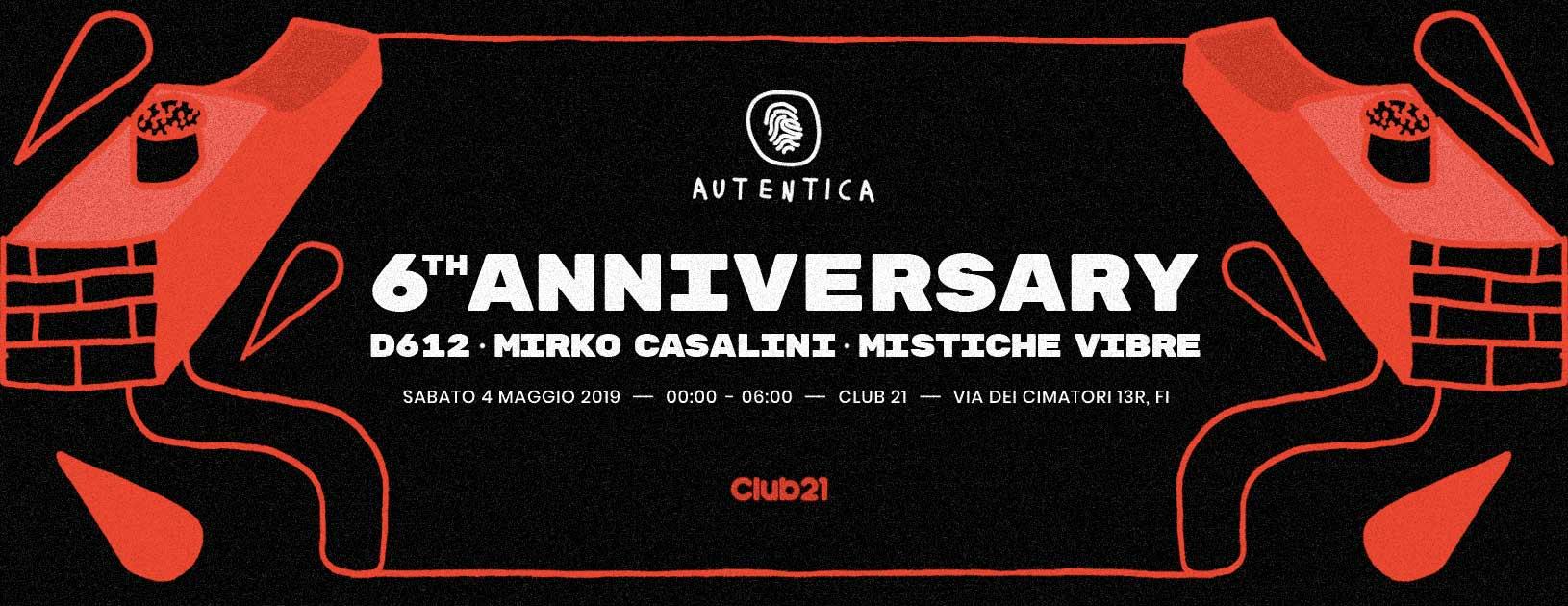 Autentica 6th anniversary - D612・Mirko Casalini・Mistiche Vibre